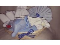 New Baby Gift Basket - Blue