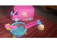 Sparkle girls campervan and swimming pool