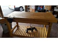 Used hand made work bench