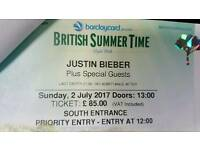 Justin Bieber BST priority tickets at face price