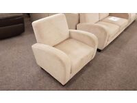 Ex Display Julian Bowen Vivo Chair in Mink Chenille Fabric** **CAN DELIVER**