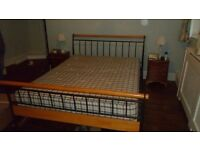 Free king size wood and metal bed frame