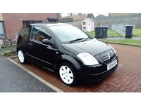 2004 citroen c2, 1.2 litre, nice sporty looking wee car, £500 may swap try me