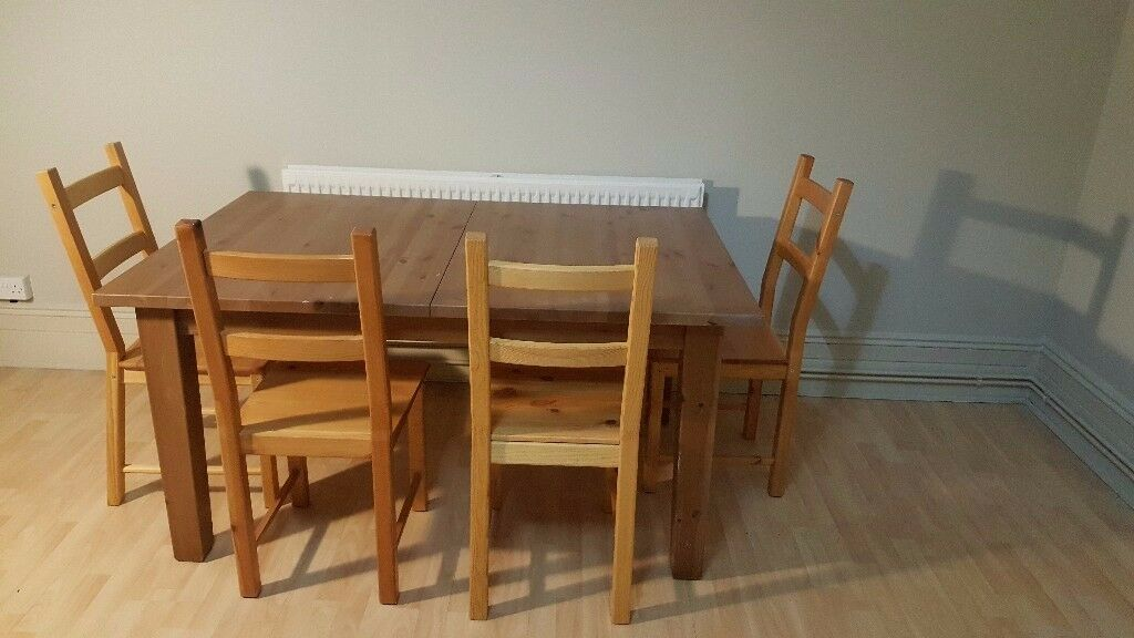 Large Extendable Dining Table With 4 Chairs For Sale IKEA STRONAS