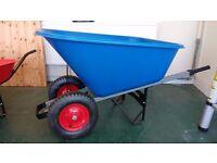 Large 140L Plastic Wheelbarrow