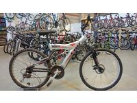 CLAUD BUTLER CBR JAVA 21FD BIKE 26 INCH WHEELS 21 SPEED FULL SUSPENSION FRONT DISC BRAKE