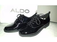 BRAND NEW ALDO Thysa patent-leather Derby shoe BRAND NEW IN BOX SIZE UK 4.5