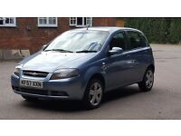 Chevrolet Kalos 1.2 SE 5dr, 72,000 miles, New MOT, Low insurance, credit/debit cards accepted
