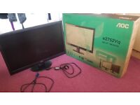 AOC 27 inch LED Monitor (BOX INCLUDED)