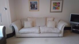 4 seater cream sofa