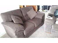 Sofa - 2 seater and matching footstool. Purchased November 2016 As new