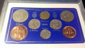 collection of 1962 coins of great britain
