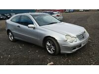 MERCEDES C200 SPORT COUPE 2002 M.O.T ABOUT TO EXPIRE