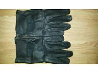 Black leather driving gloves mens