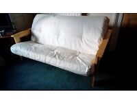 REDUCED! Double futon, wooden base, good condition, Redruth.