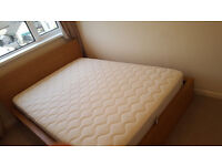 Ikea Malm double bed with Sultan Hamnvik mattress