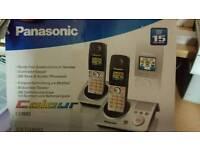 Panasonic twin set telephone hands free