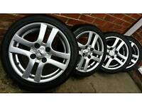 Bargain!! 2 months old alloys and tyres