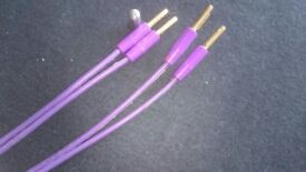 Pair of QED Purple Profile speaker cables