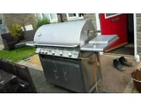 Versatile hog roaster seven burner bbq