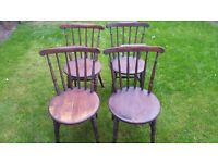 4 x wooden dining chairs for sale.