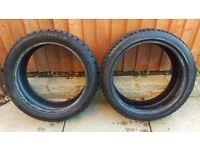 2x Run Flat Tyres 205/45 R17 - Mini / BMW / Etc - Nearly New