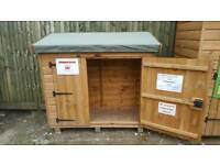 5ft x 2ft Storage Box Pent Garden Shed Ex Display £195 Inc Delivery & Installation