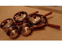 Set of Prestige Stainless Steel Saucepans