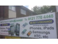 We Buy & Repair Mobiles, iPads & Laptops & Pay cash on the spot Call Today 0121 770 4448