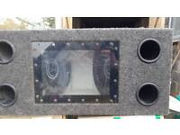 "2 x 10"" 1000w sub woofers in enclosure"