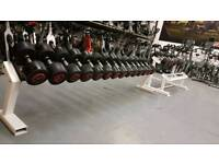 Escape dumbbells and rack16 kg to 34KG. Commercial Gym Equipment