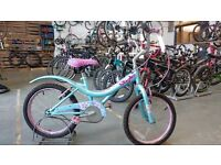 GIRLS STREETFOX STYLE BIKE 18 INCH WHEELS BLUE/PINK GOOD CONDITION