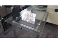6 seater glass dining table only