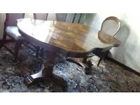 Dining Room Table, Chairs and matching Display Unit for sale