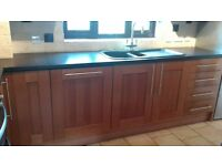 second hand kitchen units in good condition including electric oven and gas hob