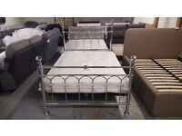BRAND NEW BENTLEY DESIGNS KRYSTAL DOUBLE BEDSTEAD & ORTHOPAEDIC MATTRESS **CAN DELIVER**