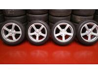 Mazda Ford FOX FX1 alloy wheels 17 + 4 x tyres 205 50 17 Mazda,Honda,Toyota ,Vauxhall,and more