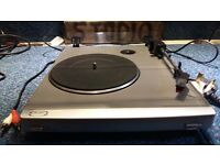 Bush MTT1 Turntable Record Player Deck with built in Preamp and new stylus.