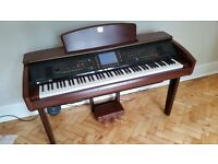 Yamaha Clavinova CVP-307M: fantastic sampled intrument sounds and a very realistic keyboard feel