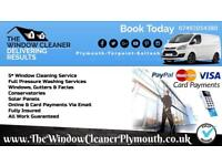The Window Cleaner PLYMOUTH. Window Cleaning, Gutters plus Pressure Washing Services
