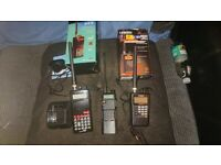 2 scanners and a 2 way radio