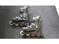 INLINE SKATES. BY CALFORNIA PRO MISTY 11. SIZE 5 £10 OVNO