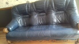 Genuine leather sofa .