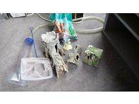 Tropical fish tank and accessories