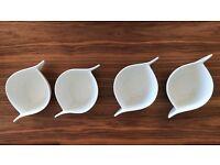 Set of 4 - VILLEROY & BOCH china NEW WAVE CAFFE pattern SOUP BOWLS