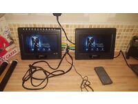 Portable In Car Dvd Player - 2 screens