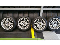 Volvo Genuine 17 alloy wheels + 4 x tyres 225 45 17