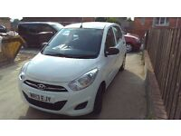 Hyundai i10 classic, low milage, full service history, air con, manufacturer warranty