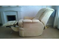 G Plan 3 Seater Sofa, Electric Recliner Chair, Footstool With Storage, Beige / Cream