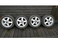 "15"" Alloy Wheels 4x100 (Fits Mazda, Peugeot, Renault, Vauxhall, Ford, Volkswagen)"